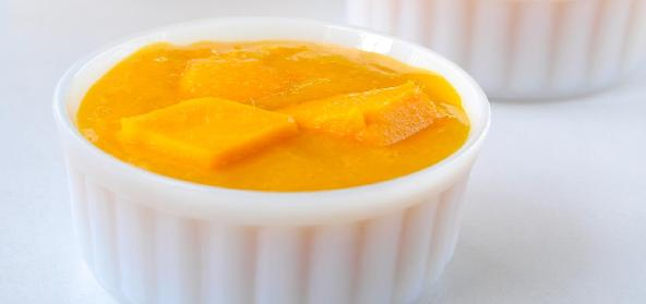 Mango And Vanilla Custard Indian Festive Recipe